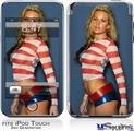 iPod Touch 2G & 3G Skin - Kasie Rae - Red White and Blue